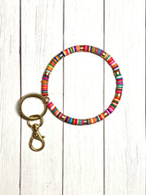 Load image into Gallery viewer, Key Ring - Beaded Rainbow