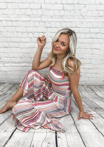 Jumpsuit - Multi Stripe