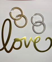 Load image into Gallery viewer, Earrings - Gold Hoops