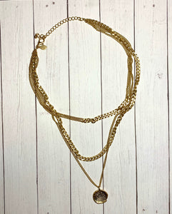 Necklace - Gold Triple Layer