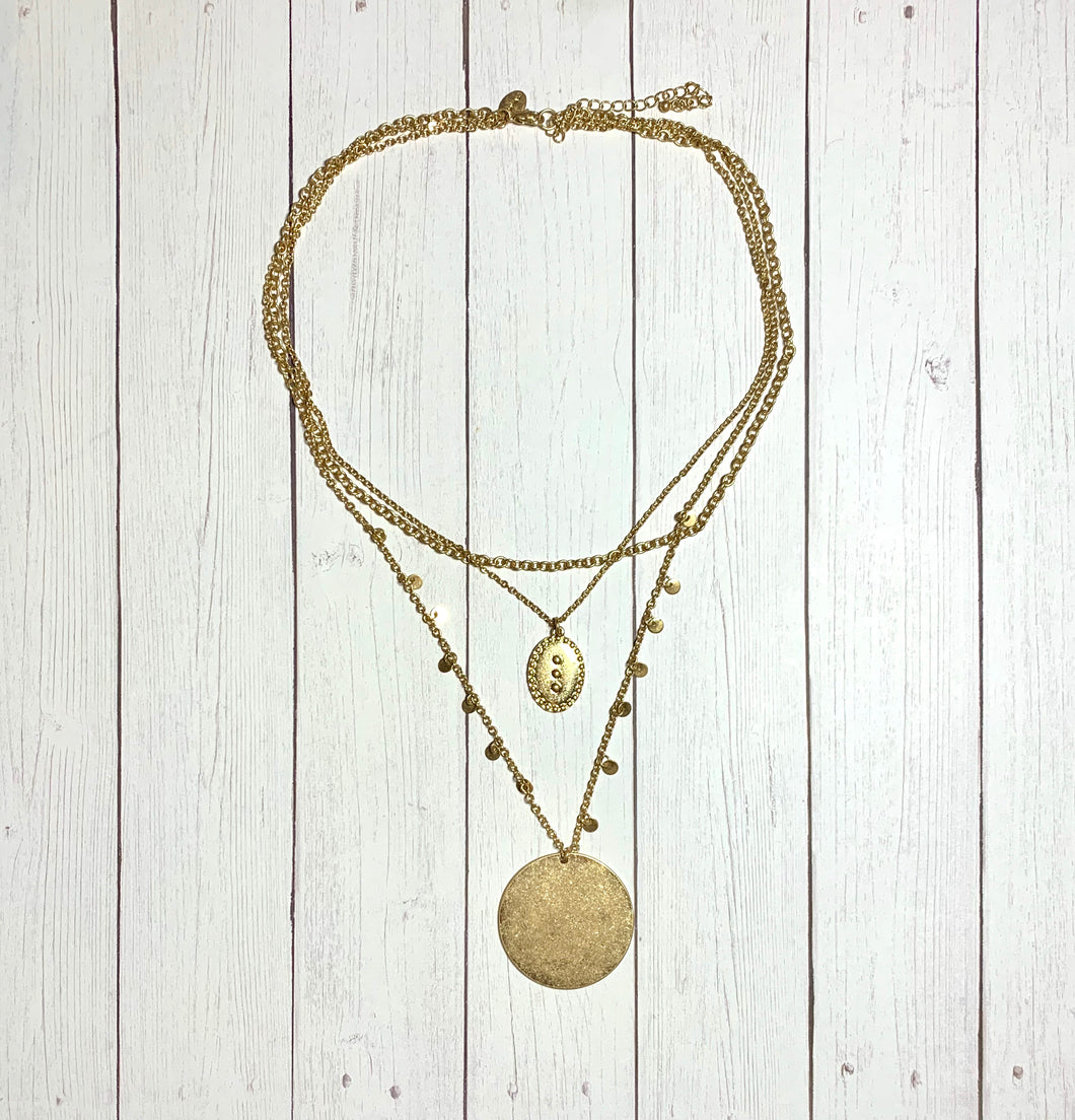 Necklace - Gold Layered with Pendant