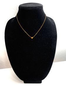 Necklace - Gold Single Circle