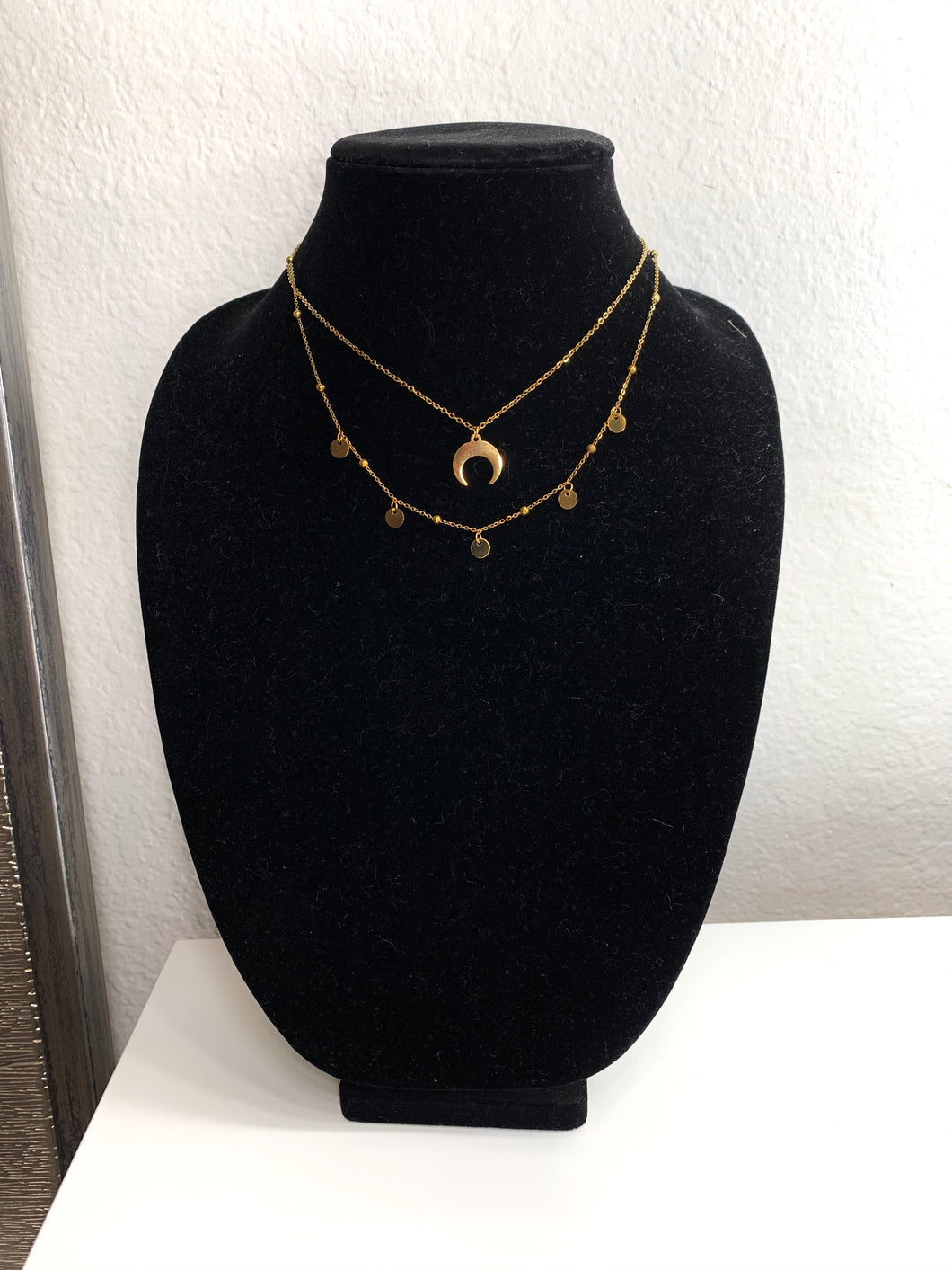 Necklace - Moon and Circles