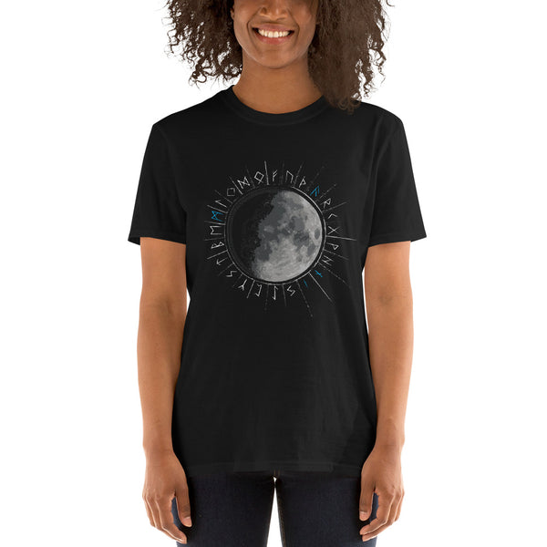 Viking Moon Rune Circle Unisex T-Shirt