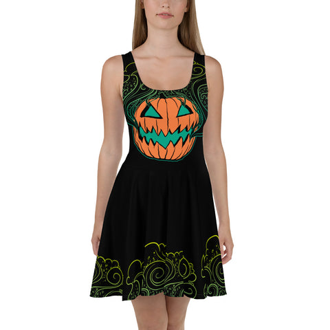 Pumpkin Smoke Skater Dress