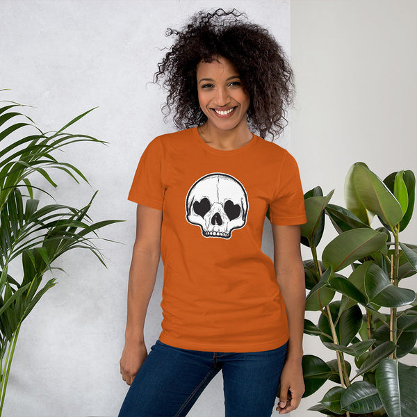 Heart Eyes Skull Unisex T-Shirt