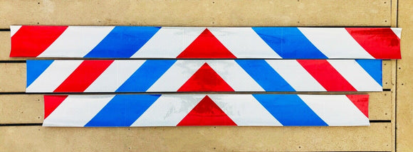 Reflective Chevron Panels Oralite Red, White, and Blue (Patriot Panels) - ReflectivePro