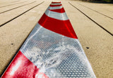 White & Red Reflective Chevron Panel (Multiple Sizes) - ReflectivePro