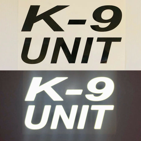 """K-9 UNIT"" 7""x12"" Reflective Decal - Reflective Pro"
