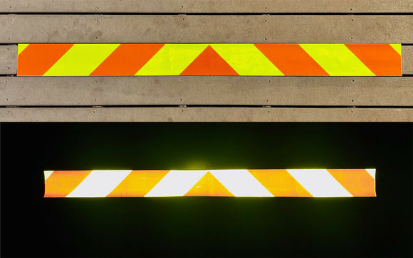 Lime & Orange Reflective Chevron Panel (Multiple Sizes) - ReflectivePro