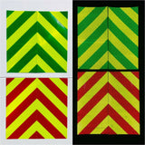 "6""x12"" Reflective Chevron Panels Motorcycle Oralite - ReflectivePro"