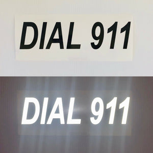 """DIAL 911"" 3""x12"" Reflective Decal - ReflectivePro"