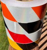 "2"" Hazard Striped Reflective Tape (Type 1) - Reflective Pro"