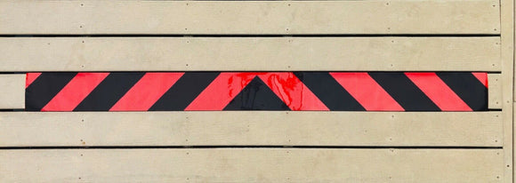 Red & Black Reflective Chevron Panel (Multiple Sizes) - ReflectivePro