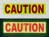 """CAUTION"" 6""x24"" Reflective Word Panel (Multiple Colors) - ReflectivePro"