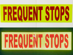 """FREQUENT STOPS"" 6""x24"" Reflective Word Panel - ReflectivePro"