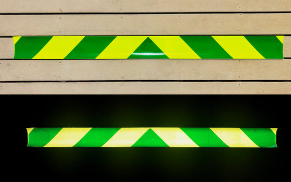 Lime & Green Reflective Chevron Panel (Multiple Sizes) - ReflectivePro