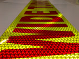 """WIDE TURNS"" 6""x24"" Reflective Word Panel (Multiple Colors) - ReflectivePro"