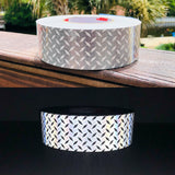 "2"" Oralite DOT ""Diamond Plate"" V52 Solid White Tape - Reflective Pro"