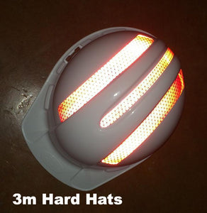 "Reflective ""3M"" Brand Hard Hat Decals - Reflective Pro"