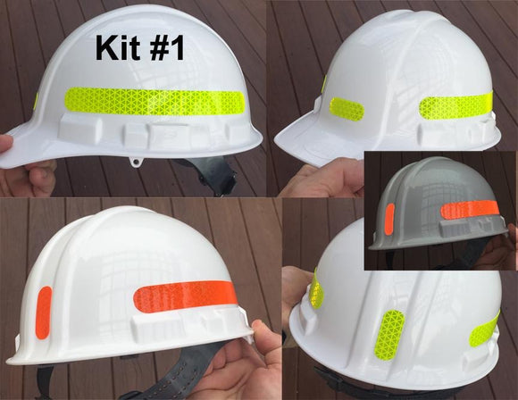 Reflective Hard Hat Decals Kit #1 - Reflective Pro