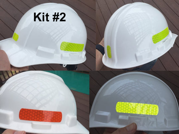 Reflective Hard Hat Decals Kit #2 - Reflective Pro