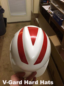 Reflective Hard Hat Decals for V-Gard Kit - ReflectivePro