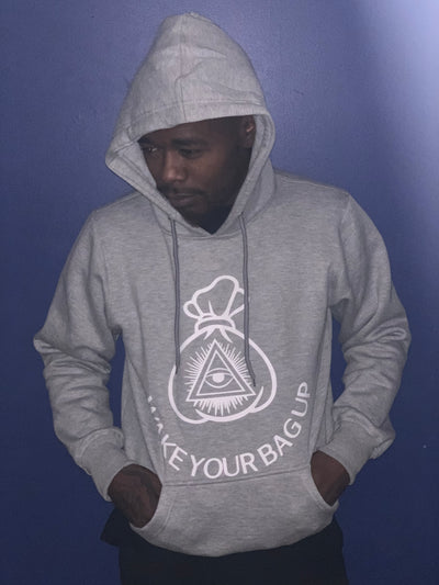 Wake your bag up Hoodie Grey