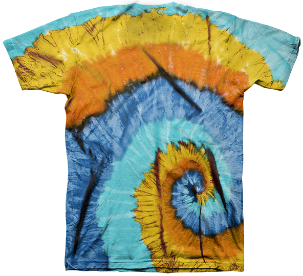 Tie Dye Orange Blue.
