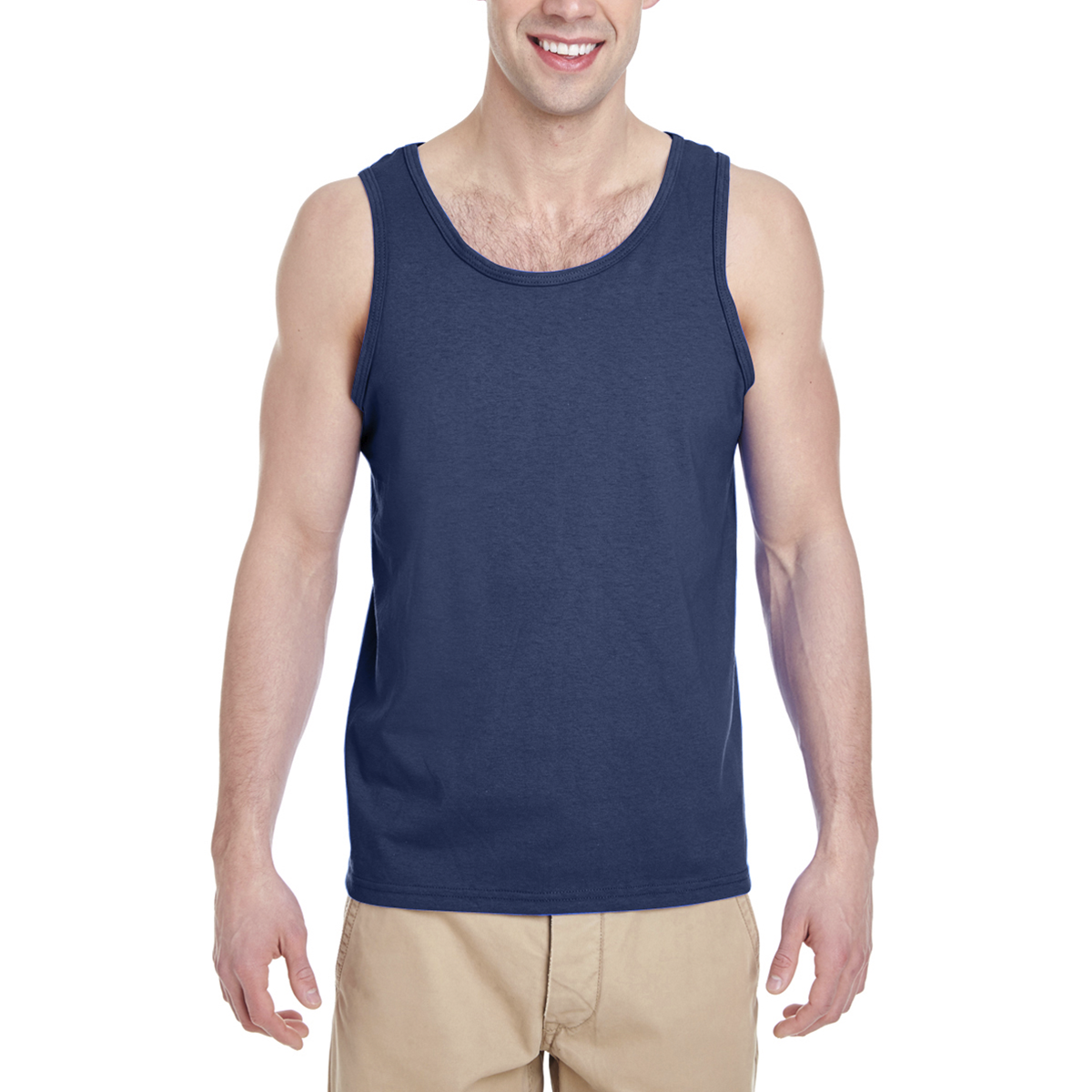 Gildan Men's Tank Top / G520-Navy