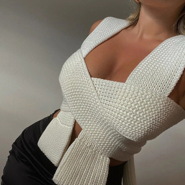 Margaret Knitted Crop Top