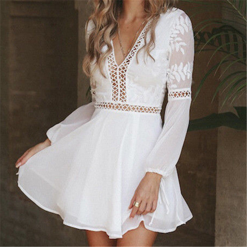 Elegant Casual Boho Backless Party Dress