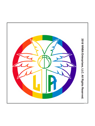 Los Angeles Sparks Pride 4x4 Decal