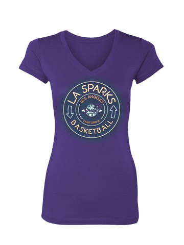 Los Angeles Sparks Women's Neon Sign T-Shirt