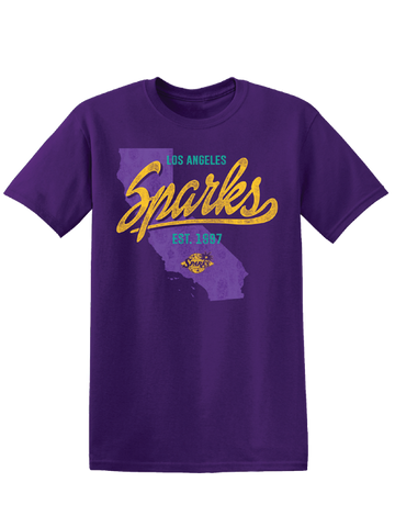 Los Angeles Sparks Team State T-Shirt