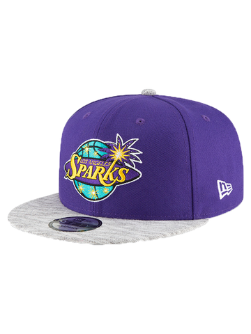 Los Angeles Sparks 9FORTY On Court Jersey Knit Snapback Cap