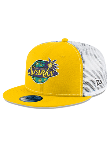 Los Angeles Sparks 9FIFTY On Court White Mesh Cap