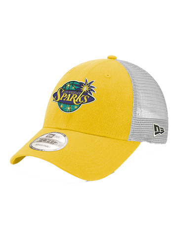 Los Angeles Sparks 9FORTY On Court White Mesh Adjustable Cap
