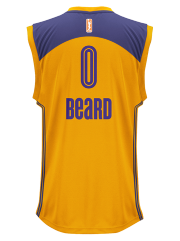 Los Angeles Sparks Beard Replica Home Jersey