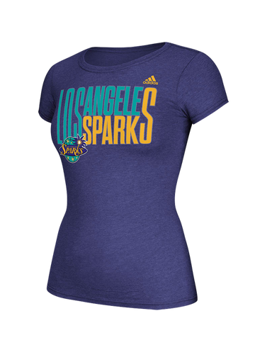 Los Angeles Sparks Women's Shrinking Bi-Blend Cap T-Shirt
