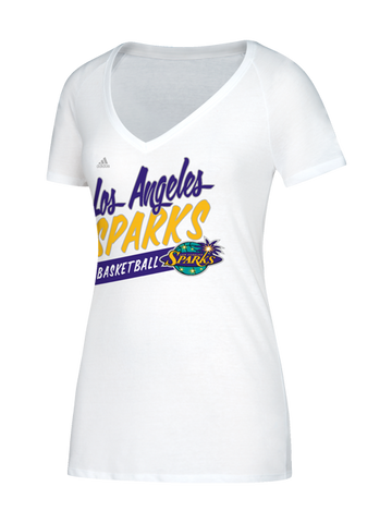 Los Angeles Sparks Women's Stripe Slant V-Neck