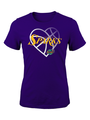 Los Angeles Sparks Girls Faded Heart T-shirt