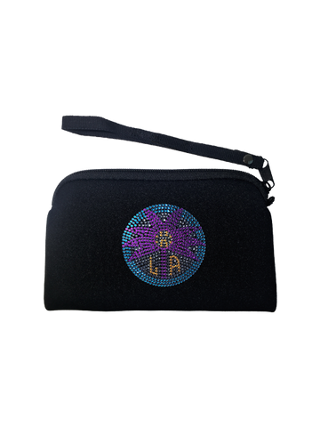 Los Angeles Sparks Bling Neoprene Clutch
