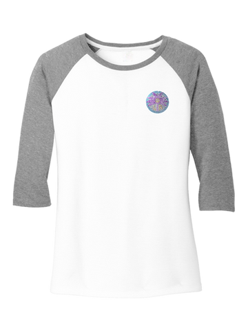 Los Angeles Sparks Women's Bling Raglan Long Sleeve T-shirt