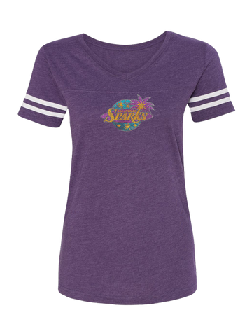 Los Angeles Sparks Women's Bling V-Neck T-Shirt