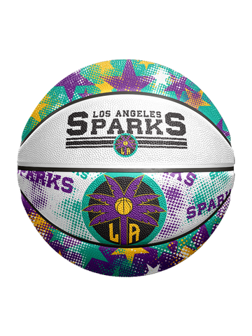 Los Angeles Sparks Star Dot Rubber Ball