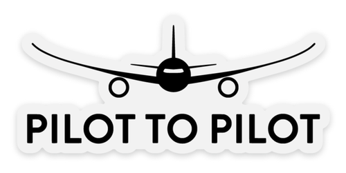 Clear Pilot to Pilot Sticker