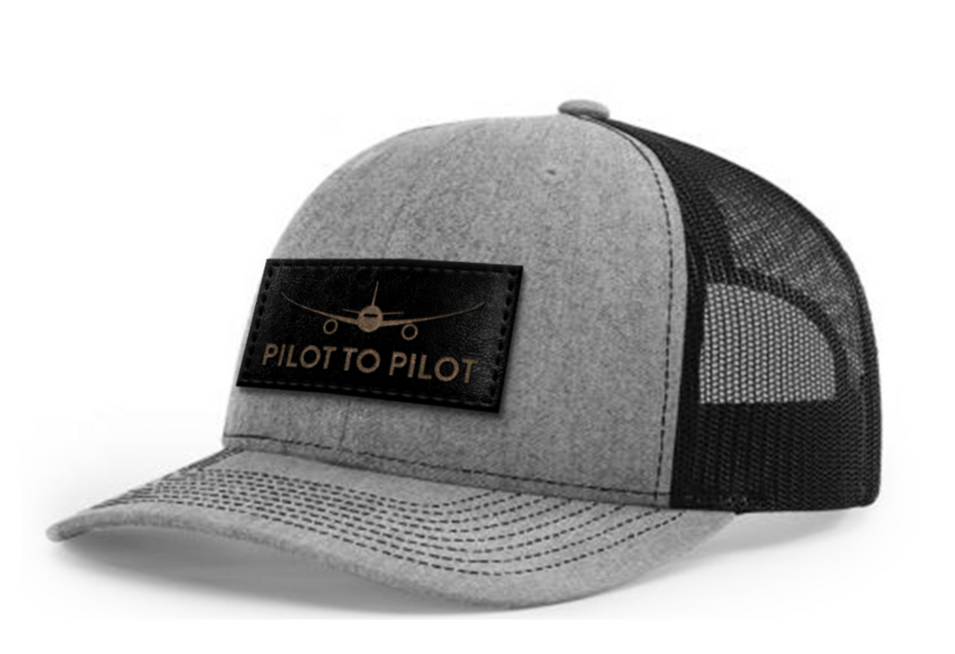 **Pre Order** Pilot to Pilot Trucker Hat (Heather Grey & Black)