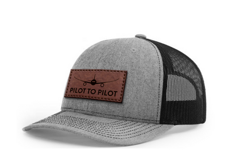 **Pre Order** Pilot to Pilot Hat - Tan Leather Patch
