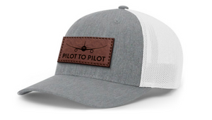 Pilot to Pilot Hat - Tan Leather Patch